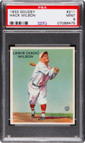 Baseball Cards:Singles (1930-1939), 1933 Goudey Hack Wilson #211 PSA Mint 9 - None Higher....