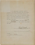 Baseball Collectibles:Others, 1934 Frank Frisch Goudey Signed Endorsement Contract. ...