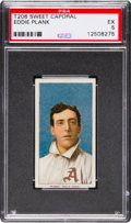 Baseball Cards:Singles (Pre-1930), 1909-11 T206 Sweet Caporal Eddie Plank PSA EX 5....