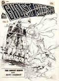 Original Comic Art:Covers, Frank Frazetta Ghost Rider #2 [A-1 Comics #29]Cover Original Art (Magazine Enterprises, 1...