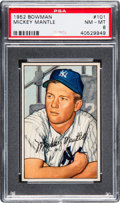 Baseball Cards:Singles (1950-1959), 1952 Bowman Mickey Mantle #101 PSA NM-MT 8....