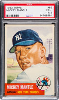 Baseball Cards:Singles (1950-1959), 1953 Topps Mickey Mantle #82 PSA EX+ 5.5....