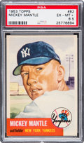 Baseball Cards:Singles (1950-1959), 1953 Topps Mickey Mantle #82 PSA EX-MT+ 6.5....