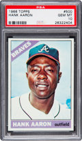 Baseball Cards:Singles (1960-1969), 1966 Topps Hank Aaron #500 PSA Gem Mint 10 - Pop Two....