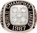 Basketball Collectibles:Others, 1986-87 Los Angeles Lakers NBA Championship Front Office Ring. ...