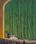 Fine Art - Painting, American:Modern  (1900 1949)  , Allen Tucker (American, 1866-1939). Curtain Call. Oil oncanvas. 24-1/2 x 20 inches (62.2 x 50.8 cm). Signed lower right...
