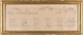 Miscellaneous:Ephemera, Key to Engraving of Trumbull's Engraving of First Reading of theDeclaration of Independence....