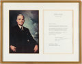 Autographs:U.S. Presidents, Harry S. Truman: Typed Letter Signed....