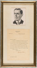 Autographs:U.S. Presidents, Woodrow Wilson: Typed Letter Signed as Princeton President....