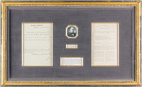 William McKinley: Treaty with Spain Framed Display