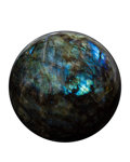 Lapidary Art:Eggs and Spheres, Labradorite Sphere. Madagascar. 4.33 inches (11.00 cm) indiameter. ...