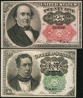 Fractional Currency:Fifth Issue, Fifth Issue 10¢ and 25¢ Notes.. ... (Total: 2 notes)