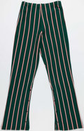 Basketball Collectibles:Uniforms, Mid 1970's Milwaukee Bucks Game Worn Pinstriped Warmup Pants....
