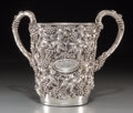 Silver Holloware, Continental, A Portuguese Silver Two-Handled Judaica Wash Cup, 20th century.Marks: PORTUGAL, 0.925. 7-1/2 inches high (19.1 cm). 26....