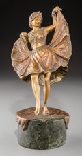 Decorative Arts, Continental, A Franz Bergmann Cold Painted Bronze Erotic Figure: OrientalDancer. Marks: (B-amphora), Nam Greb. 7-3/8 inches ...