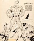 Original Comic Art:Covers, Charles Sultan Yankee Comics #1 Cover Original Art (Chesler,1941)....