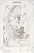 Original Comic Art:Covers, Gabriele Dell'Otto Marvel 1602: Fantastick Four #5 CoverOriginal Art (Marvel, 2007)....
