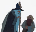 Animation Art:Production Cel, The Lord of the Rings Gandalf and Gimli Production Cel Setup& Animation Drawing Group of 4 (Ralph Bakshi, 1978).... (Total:4 )