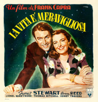 "It's a Wonderful Life (RKO, 1948). Italian 4 - Fogli (55"" X 57"") Averardo Ciriello Artwork"