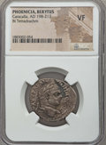 Ancients:Roman Provincial , Ancients: PHOENICIA. Berytus. Caracalla (AD 198-217). BItetradrachm. NGC VF....