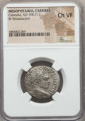 Ancients:Roman Provincial , Ancients: MESOPOTAMIA. Carrhae. Caracalla (AD 198-217). BItetradrachm. NGC Choice VF....