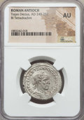 Ancients:Roman Provincial , Ancients: SYRIA. Antioch. Trajan Decius (AD 249-251). BItetradrachm. NGC AU....