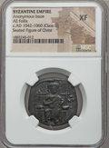 Ancients:Byzantine, Ancients: Anonymous, time of Constantine IX-X (1042-1067). Æfollis. NGC XF....