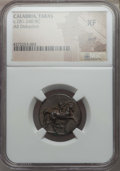 Ancients:Greek, Ancients: CALABRIA. Tarentum. Ca. 281-240 BC. AR stater ordidrachm. NGC XF, scuff....