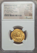 Ancients:Byzantine, Ancients: Maurice Tiberius (AD 582-602). AV solidus (4.48 gm). NGCMS 3/5- 4/5....