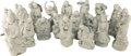 Asian:Chinese, Eighteen Chinese Blanc de Chine Lohan Figures. Marks: (impressedseal). 19-3/4 inches high (50.2 cm) (tallest). ... (Total: 18Items)