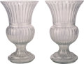 Decorative Arts, French, A Large Pair of Baccarat-Style Cut-Glass Urns. 28-3/4 inches high(73.0 cm). ... (Total: 2 Items)