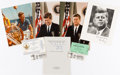 Political:Small Paper (1896-present), John F. Kennedy: Photographs and Ephemera....
