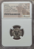 Ancients:Judaea, Ancients: JUDAEA. Bar Kokhba Revolt (AD 132-135). AR zuz (2.93 gm).NGC AU 4/5 - 4/5....