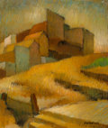 Fine Art - Painting, American:Modern  (1900 1949)  , Otis Oldfield (American, 1890-1969). Old Telegraph Hill. Oilon canvas. 24 x 20 inches (61 x 50.8 cm). Signed lower righ...