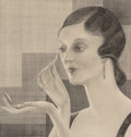 Fine Art - Work on Paper:Drawing, Ferdinand Walcher (American, 1895-1955). Vanity, 1928.Pencil on paper. 11-1/2 x 11 inches (29.2 x 27.9 cm) (image).Sig...