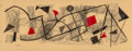 Fine Art - Work on Paper:Drawing, Urban Weiss (American, 1892-1955). Geometric Composition, muralpreliminary. Crayon and ink on paper. 17-1/4 x 18-1/4 in...