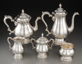 Silver Holloware, American:Tea Sets, A Five-Piece International Silver Co. Prelude Pattern SilverTea and Coffee Service, Meriden, Connecticut, desig... (Total: 5Items)