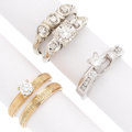 Estate Jewelry:Rings, Diamond, Gold Rings. . ... (Total: 3 Items)