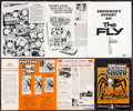 """Movie Posters:Science Fiction, Showmen's Report: The Fly & Other Lot (20th Century Fox, 1958). Uncut Pressbooks (2) (Multiple Pages, 11"""" X 15"""" & 12.75"""" X 1... (Total: 2 Items)"""