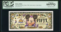 Miscellaneous:Other, Disney Dollar $50 2005 Rodgers R-124 PCGS Gem New 66 EPQ.. ...