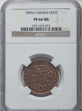 Liberia, Liberia: Republic Proof Cent 1896-H PR66 Red and Brown NGC,...