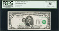 Error Notes:Shifted Third Printing, Fr. 1972-D $5 1969C Federal Reserve Note. PCGS Choice About New 55.. ...