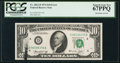 Error Notes:Ink Smears, Fr. 2022-D $10 1974 Federal Reserve Note. PCGS Superb Gem New67PPQ.. ...