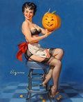 Mainstream Illustration, Gil Elvgren (American, 1914-1980). All Smiles (Glamorous;Glamorous and Witchcraft), 1962. Oil on canvas. 30 x 24 in..S...