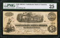 Confederate Notes:1862 Issues, T40 $100 1862 PF-1 Cr. 298.. ...