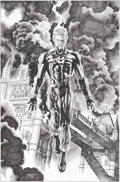 Original Comic Art:Covers, Mico Suayan Miracleman #10 Variant Cover Original Art(Marvel, 2014)....