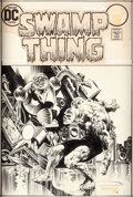Original Comic Art:Covers, Bernie Wrightson Swamp Thing #6 Cover Original Art (DC,1973)....