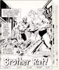 "Original Comic Art:Complete Story, Don Heck Action Comics #517 ""Brother Rat"" Aquaman Complete 8-Page Story (DC, 1981).... (Total: 8 Original Art)"