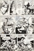 Original Comic Art:Panel Pages, Barry Smith and Sal Buscema Conan the Barbarian #14 StoryPage 11 Elric of Melniboné Original Art (Marvel, 1972)....