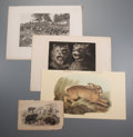 Prints:Contemporary, Group of Approximately 100 Miscellaneous Animal Prints. Circa 1880.Various sizes, the largest measuring 24-1/2 x 19-3/4 inc...
